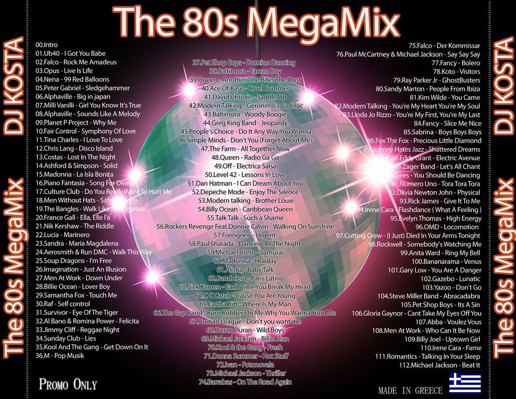 The 80s MegaMix ( By Dj Kosta ) | DJ's